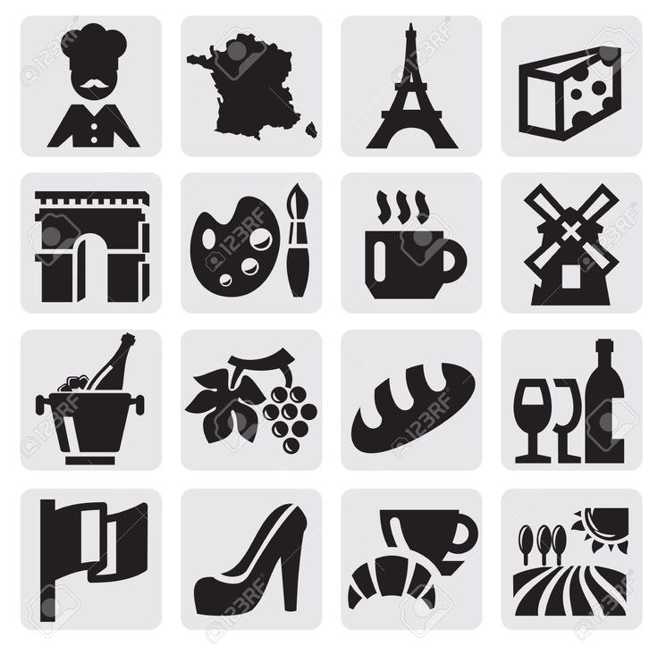 14936766-French-culture-Stock-Vector-france-silhouettes.jpg (1300×1278)