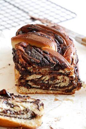 Chocolate krantz Babka Cakes. For the full recipe click on the photo.