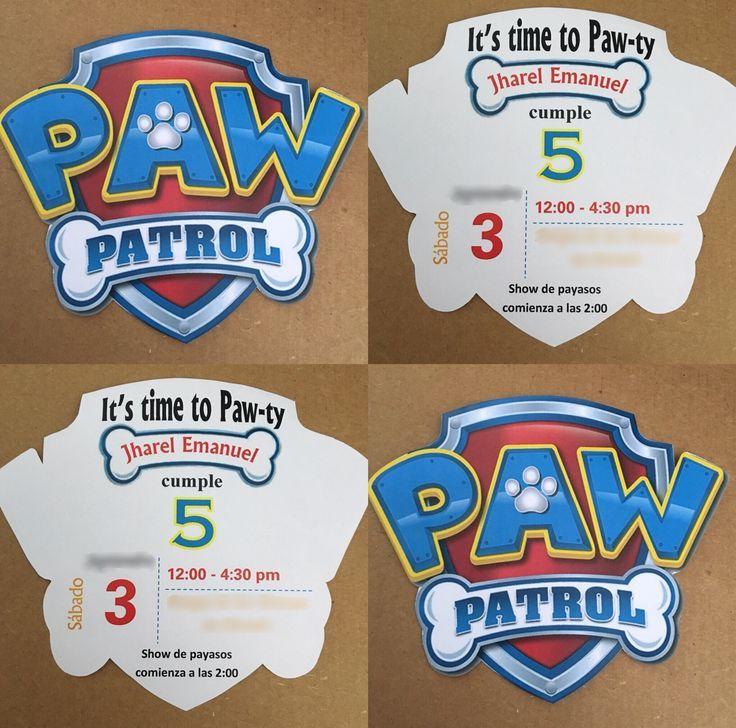 Paw Patrol Logo Einladungen Paw Patrol Birthday Invitations Paw Patrol Party Invitations Paw Patrol Birthday Party