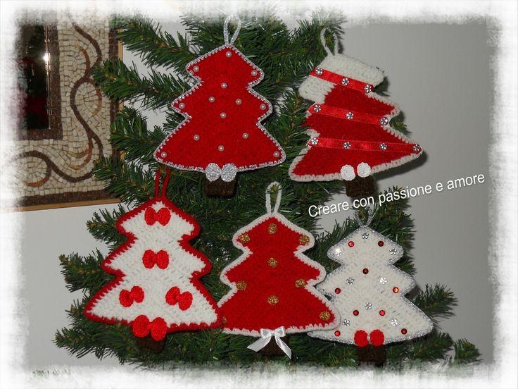 Alberelli decorativi in lana by https://www.facebook.com/creareconpassioneeamore/