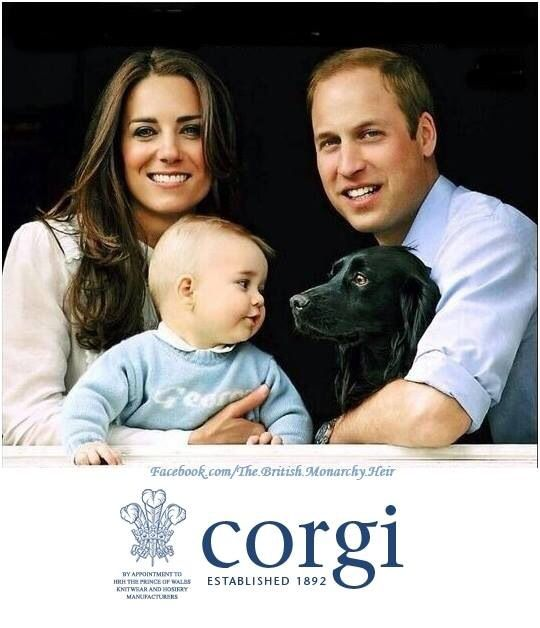 cute picture!!! I love how Prince George is looking at Lupo & thinking... Let's go play!