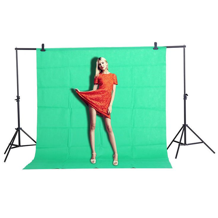Photo Studio Video Background Screen Green White Black Backdrop Non-woven 1.6x2m #Herohoang