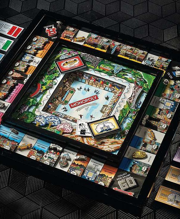 Bring the family together this holiday season with 3D Monopoly!: Games Rooms, Games Tables, New York Cities, 3D Monopoly, Charles Fazzino, Cities Monopoly, New York City, Gifts Idea, Families Fun
