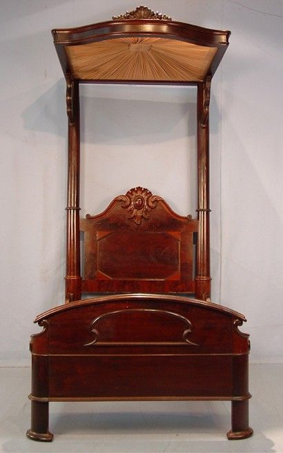 Mahogany Half Tester Bed From a Home in Jackson, Tennessee.