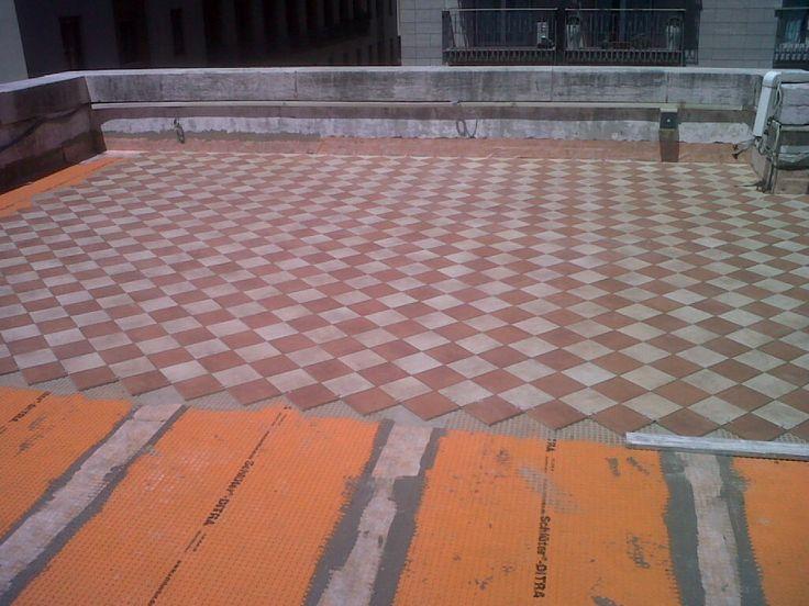 Rifacimento terrazza con impermeabilizzazione Schluter e pavimentazione - Bari