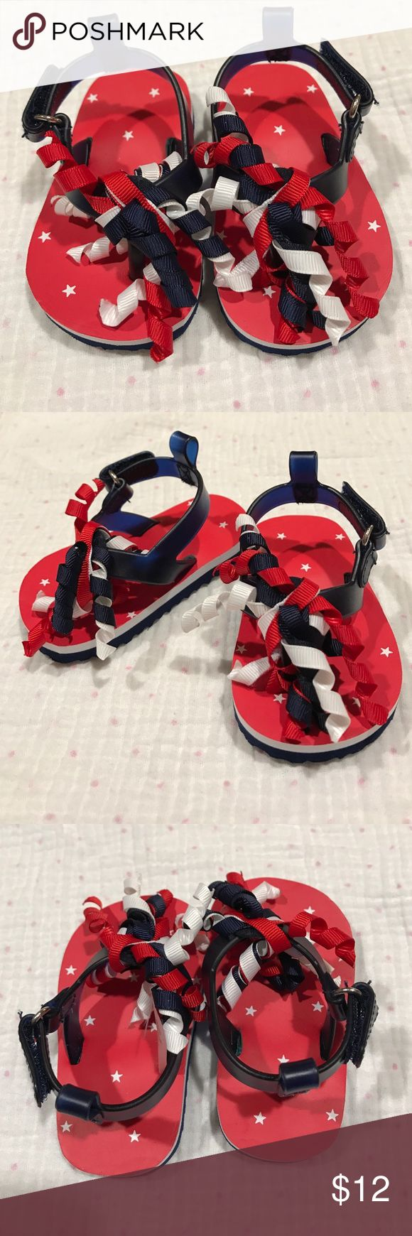 4th of July Carter's Baby Shoes Size 3-6 months 4th of July, red white & blue Carter's Child of Mine Baby Shoes. Worn once! Carter's Shoes Baby & Walker
