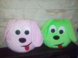 Poduszka przytulanka pies piesek z minky i bawełny