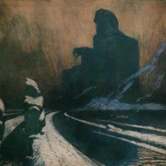 František Kupka, 1871-1957, The Black Idol, charcoal and gouache on paper