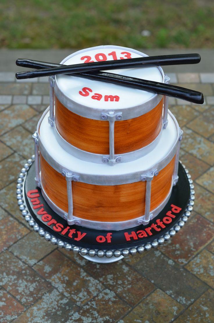 Graduation - Snare Drum Graduation Cake.
