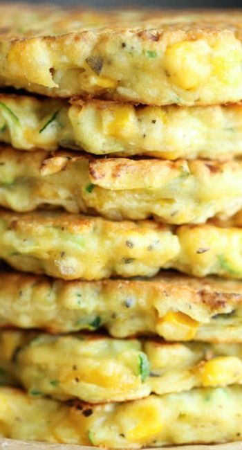 Zucchini Corn Pancakes...yummy! Now is the perfect time with all the fresh corn and zucchini