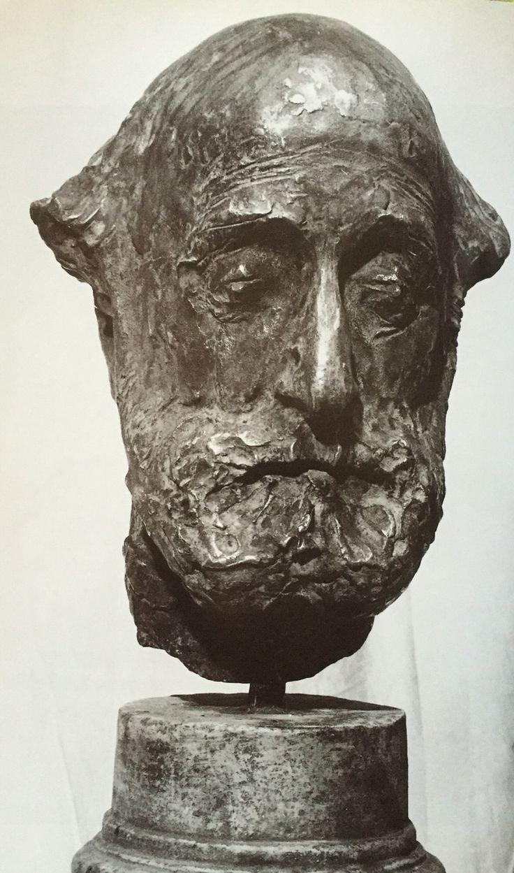"Дмитрий Тугаринов ""Скульптор М.Габе"" бронза  1980 Dmitriy Tugarinov ""The sculptor M.Gabe"" bronze 1980"