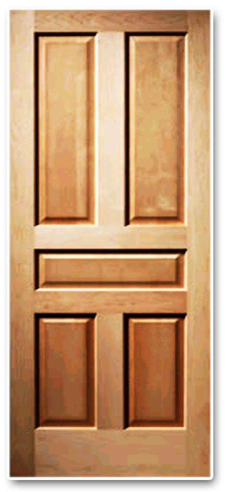 Puerta 5 tableros madera pino puertas doors pinterest for Madera para puertas