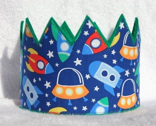 Birthday Crown Felt Birthday Crown Space Birthday by MnMExtras