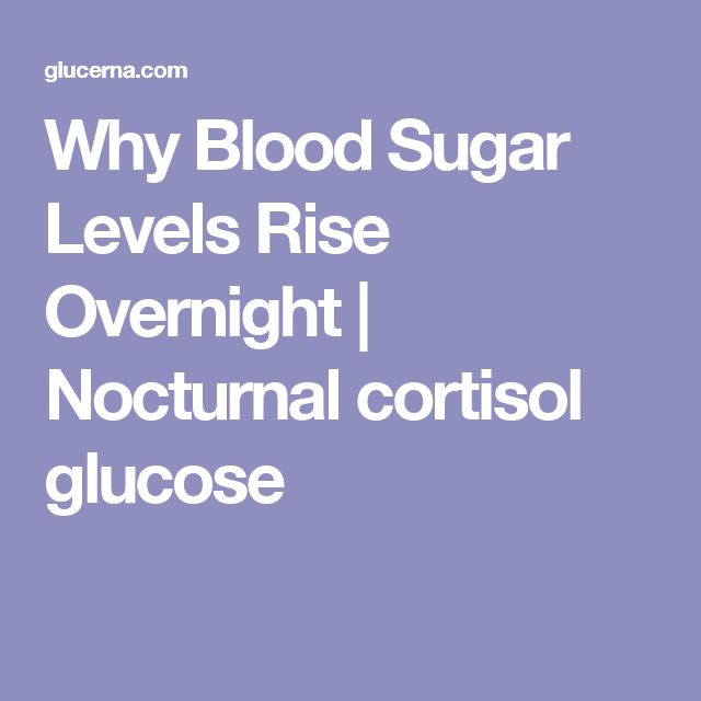 Why Blood Sugar Levels Rise Overnight | Nocturnal cortisol glucose