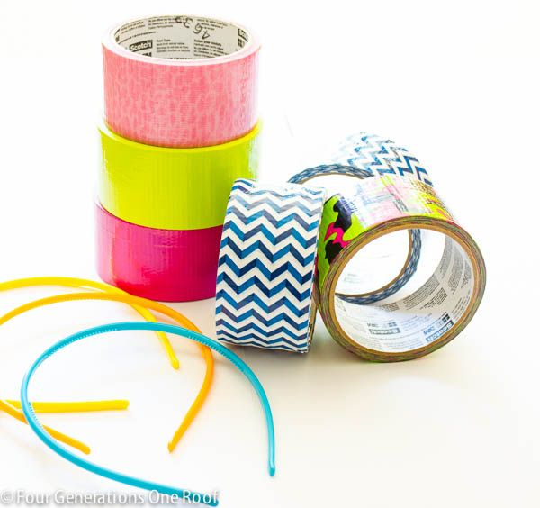 How to make duct tape flowers quick and easy