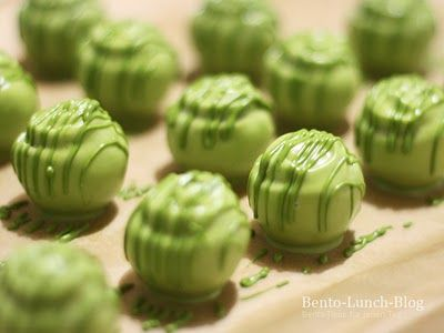 """matcha cake balls"" Oh God, this looks amazing. And I will never ever make it."