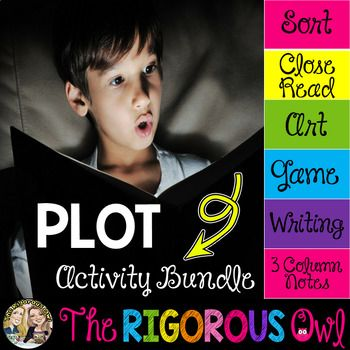 This PLOT Activity Bundle provides a ton of exposure to Plot! Students will identify the parts of Plot, identify each part's meaning, and apply the parts of the Plot to different activities. You have officially found what your Language Arts block has been missing!