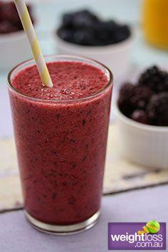 Healthy Breakfast Recipes: Banana Berry Boost. #HealthyRecipes #DietRecipes #WeightlossRecipes weightloss.com.au