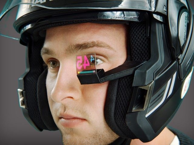 BikeHud Adventure: The smallest, lightest, most advanced Head-Up Display (HUD) for motorcyclists.