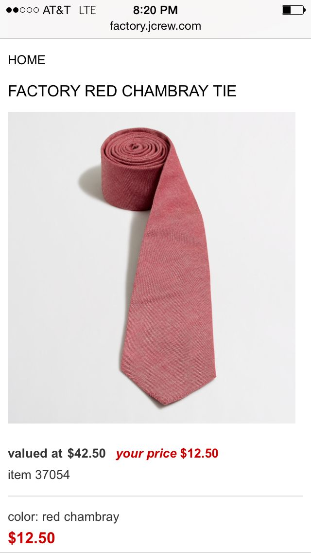Red chambray JCrew tie