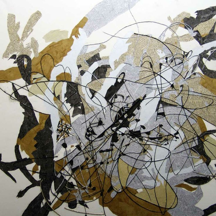 Chapter III: Translation by San-Mari van Wyk This large-scale work comprises of paper and newsprint dipped in ink and coffee.  http://bit.ly/1dDCUcE