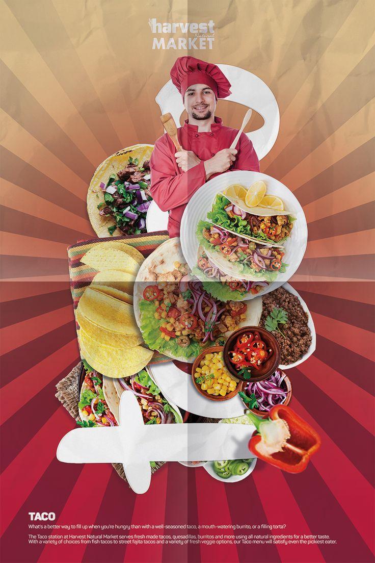 Harvest Natural Market Afiş Tasarım - Taco Departmanı