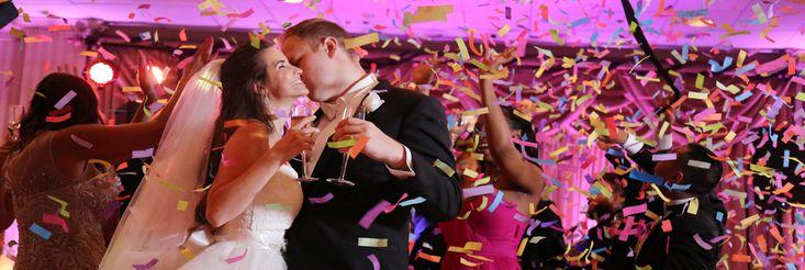 Some confetti fun in the Grand Ballroom at Valley Forge Casino Resort #IDOVFCR