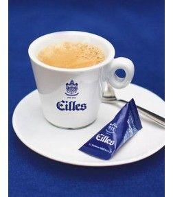 EILLES Espressotasse mit Design Untersetzer