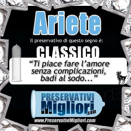 """Ariete - Preservativo classico - """"Ti piace fare l'amore senza complicazioni, badi al sodo"""" - http://www.preservativimigliori.com/classici-normali.html"""