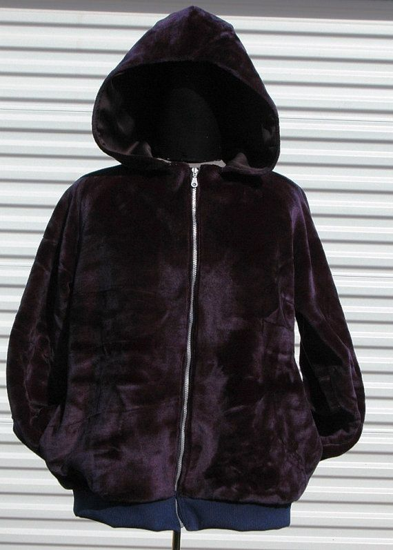 XXL Faux Fur Hoodie Midnight Blue by OLearStudios on Etsy