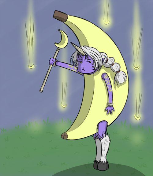soraka + her bananas  <3 league of legends fan art
