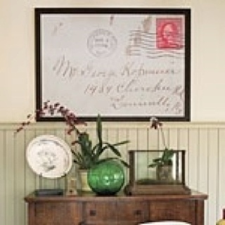 Instead of putting that special piece of mail in a drawer, have an architectural copy made, frame it, and show it off.