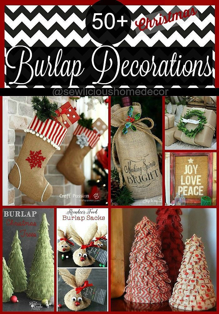Embellish your home with these beautiful DIY decorations made with burlap. sewlicioushomedecor.com