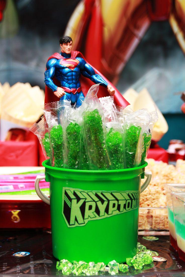 Superman kryptonite sugar sticks
