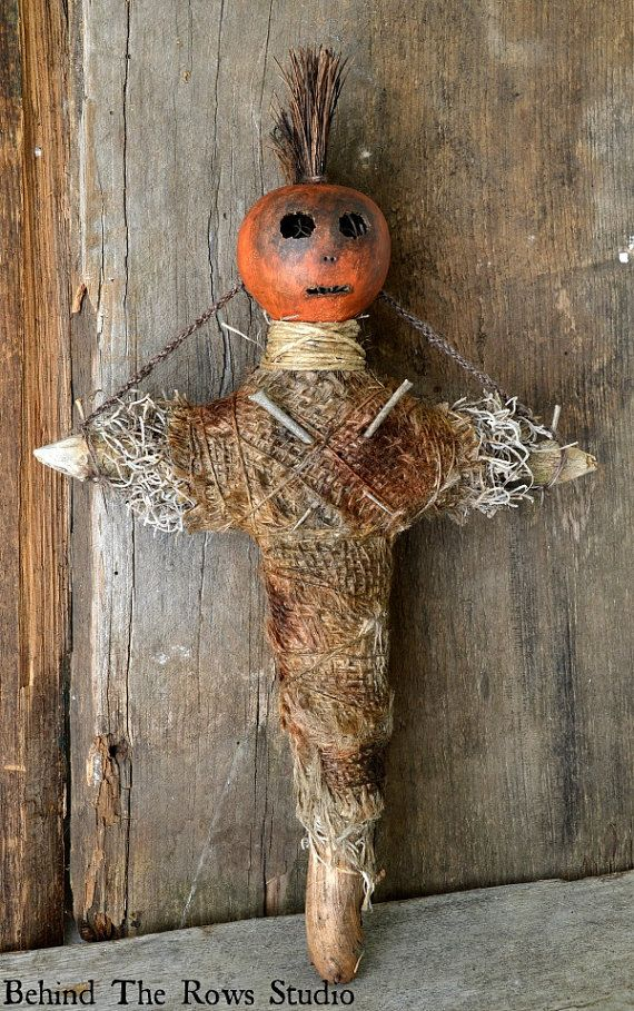 Voodoo Doll Folk Art by BehindTheRowsStudio on Etsy, $85.00