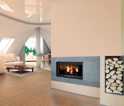 Chimenea moderna denali est tica vanguardista con recuperador de calor chimeneas modernas - Chimeneas de diseno de lena ...