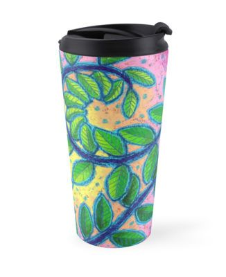 Twirly travel mug by Dorothy Siemens on RedBubble.
