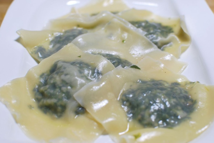 Mushroom and Spinach Ravioli | Pasta (Carb me up Buttercup) | Pintere ...