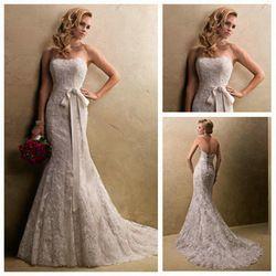 Online Shop 2014 Mermaid Design Strapless Ivory Wholesale Price Popular Lace Dresses Wedding Dresses |Aliexpress Mobile