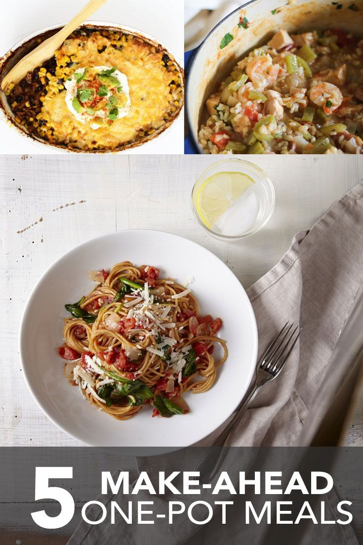 Cooking is fun, but cleaning up? Not so much. If you want to make dinner without the mess, try making one of these one-pot meals.It's simple: Load fresh ingredients into a cooking vessel. Allow your items to reach edible perfection (warning: some stirring might be involved!). Ring the dinner bell! 1.One-Pot Pasta with Spinach & …
