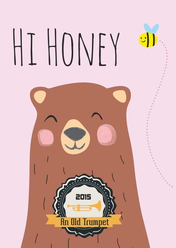 Hi Honey. A vector minimalistic Bear by AnOldTrumpet on Etsy