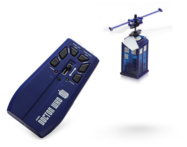 """This 3"""" tall TARDIS is ready to navigate through your home or office. With an IR…"""