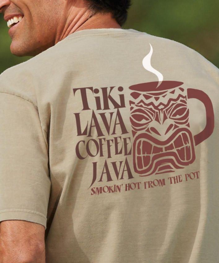 Tiki Lava - Kona Coffee-Dyed Crew Neck T-Shirt