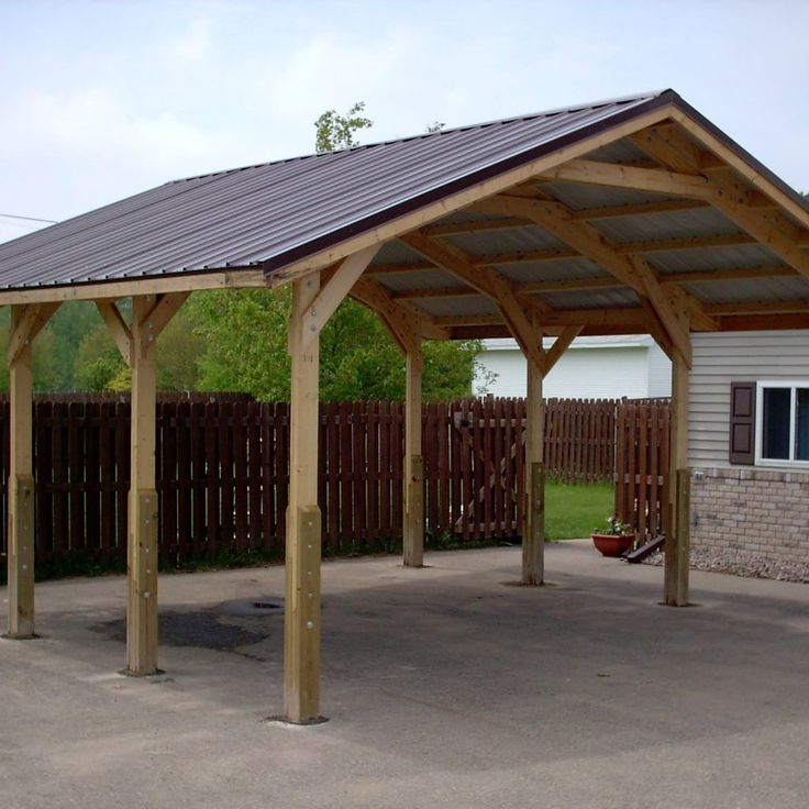 Carport Roof Kit How To Frame A Carport Roof Using