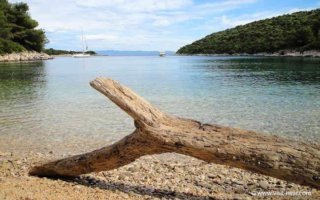 The island of Scedro near Hvar