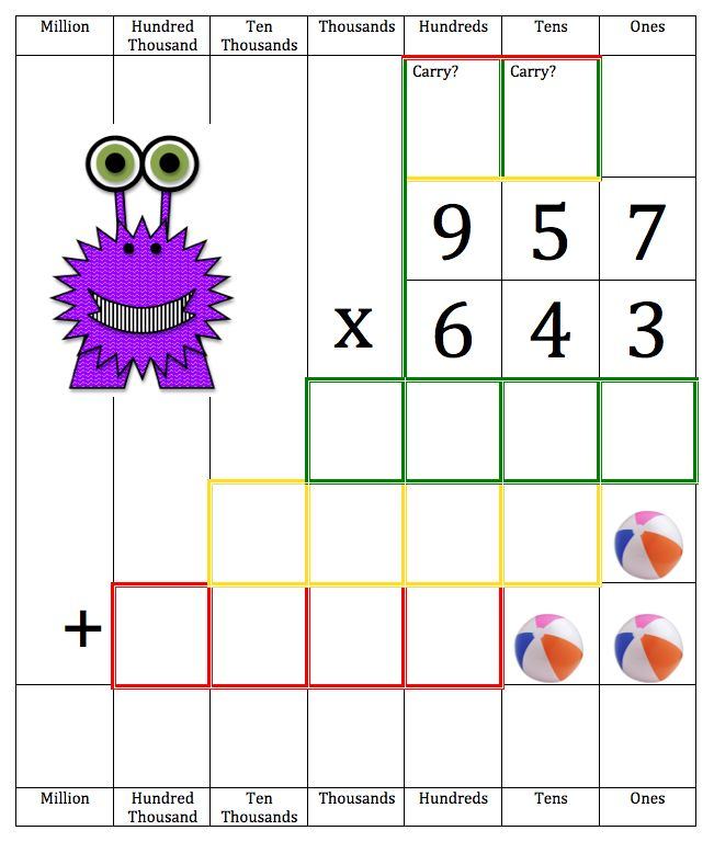 Long multiplication is now memorable and fun with Multiplication Monster!  Come check it out! $