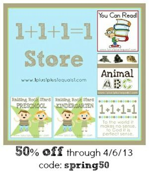 Spring Surprise Sale ~ 50% off everything  {including items in Teacher's Notebook Shop}, code: spring50, expires 4/6/13