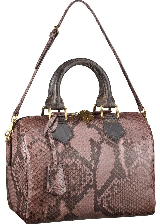 Louis Vuitton pink snakeskin bag 2013 #purses #handbags diy # trended  #fashion #