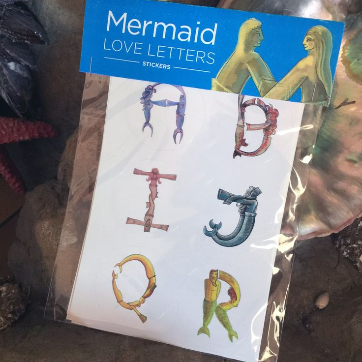 "Mermaid Love Letters Alphabet Set Includes: 26 2"" stickers that are the capital letters A-X.  How do you communicate your love for yourself, love for the oceans, love for the earth, love for others? Mermaid Love Letter stickers can help you communicate your love! They are inspired by mythic images of mermaids, real life mermaids, divers, beach lovers, free divers and the sea itself."