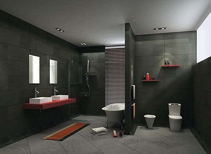 Dark Bathroom Tiles Images From Bathroom Ideas Picture With Respect To Dark Bathroom Tile